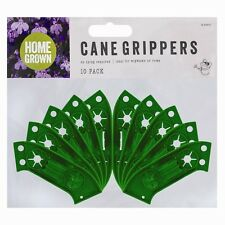 10 Garden Cane Grips Grippers For Rows or Wig Wams Flowers & Plants Bamboo