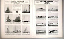 Sparkman & Stephens 2-Page PRINT AD - 1933 ~~ Yachts & Schooners For Sale