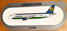 UZBEKISTAN AIR, Airbus A320, Original, High Quality Print, new, HIGHLY RARE !!!