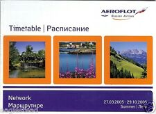 Airline Timetable - Aeroflot - 27/03/05 - Network style Edition