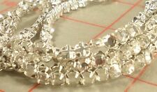 1 strand 120 Czech rose montees crystal rhinestone in silver sew-on setting SS20