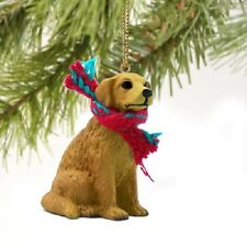 GOLDEN RETRIEVER dog HANDPAINTED ORNAMENT Resin Figurine puppy Christmas HOLIDAY
