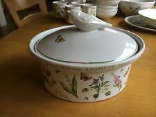"Marjolein Bastin 2 qts Covered Oval Casserole Dish - ""Wildflower Meadow"" Nice!"