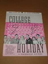 """College Holiday"" (Jack Benny/George Burns/Gracie Allen) 1936 UK Press Book"