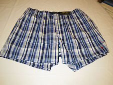 Polo Ralph Lauren underwear men's lounge classic fit boxer shorts L blue plaid