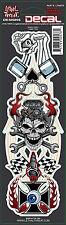 Lethal Threat Sticker Aufkleber Speed Crazy Helm Bike Quad Auto Truck Death Head
