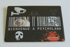 PLAQUE METAL 15x21cm NEUVE // BIENVENUE A PSYCHOLAND PR099