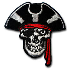 Pirate Skull Jack Patch Iron on Jolly Roger Badge Biker Race Punk MC Club Racing