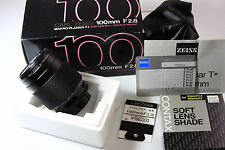 Contax Zeiss Planar 100 mm F/2.8 Lens LN in box with Manual and others