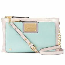 Juicy Couture 2-in-1 clutch and crossbody bag in Aqua Colorblock NWT
