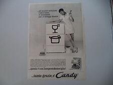 advertising Pubblicità 1967 LAVASTOVIGLIE CANDY