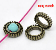20 pcs Metal Circle Bead Frame, Connector