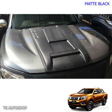 Matte Black Front Bonnet Hood Scoop For Nissan Navara Frontier Np300 15 16 17