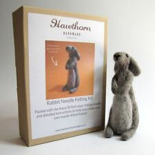 Needle Felting Kit - Make Own Grey Bunny Rabbit - British Wool Design Craft Gift
