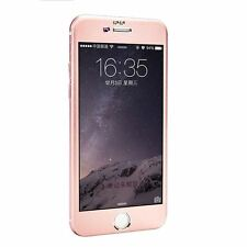 "ROSE GOLD iPhone 7 Plus 5.5"" Aluminum Tempered Glass Full Screen Protector Cove"