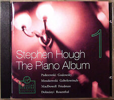 Stephen HOUGH PIANO ALBUM 1 Paderwski Quilter Gabrilowitsch Schlözer Levitzki CD