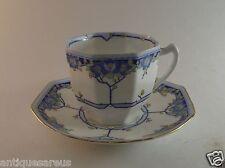ROYAL DOULTON ARVON TEA CUP AND SAUCER BLUES