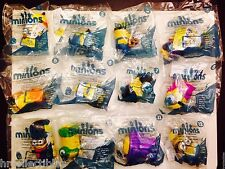NEW MCDONALDS 2015 MINIONS SET OF 12 Sealed TOY SET IN HAND