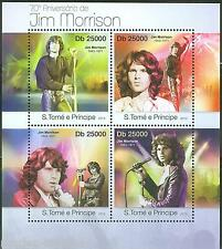 SAO TOME 2013  70th BIRTH ANNIVERSARY OFJIM MORRISON SHEET NH