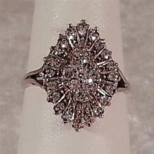 Vintage Estate Ladies .47ct VS/H Diamond Cocktail Ring 14k White Gold Size 6.75