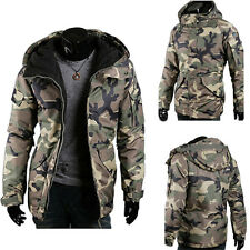 2016 New Fashion Mens Winter Warm Camouflage Hooded Coat Outwear Padded Jacket