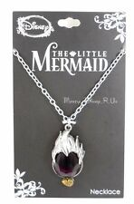 Disney Little Mermaid Ariel Ursula Hair Gem Stone Conch Shell Pendant Necklace