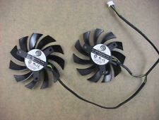 75mm Video Card Dual Fan MSI GTX 560 570 R6970 Twin Frozr PLD08010S12HH #M748 QL