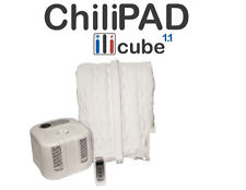 Full CHILIPAD™ Cube 1.1 cools or heats mattress to 60-110°F.  Comfy. Save heat$