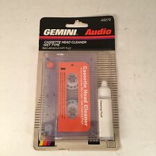 Vtg Gemini Audio Cassette Head Cleaner Wet Type 1996 with Fluid Sealed