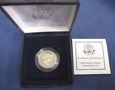 1999 PROOF SUSAN B. ANTHONY DOLLAR WITH COA