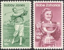 USA 1981 Bobby Jones/Babe Zaharias/Golf/Athletics/Sports/Games 2v set (n44824)