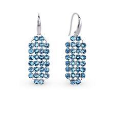 Silber 925 Ohrringe mit Swarovski Elements Damen Ohrringe Ohrschmuck Ohrhänger