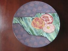"""Howell Pottery 20"""" Charger Plate Platter Artist Signed"""