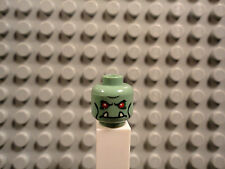 Lego mini figure 1 Sand Green troll head face