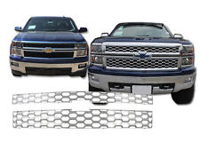 2014 CHEVROLET CHEVY SILVERADO 1500 LT WT 2PC CHROME ABS GRILLE GRILL OVERLAY