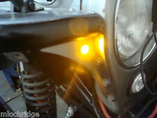 Custom Mount AMBER LED Turn Signal Indicators Bright Amber / Yellow LED Lights