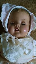 1940s baby doll, eyes open, close, cries when tipped backward