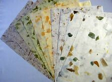 10 pcs.HANDMADE THIN MULBERRY WRAPPING PAPER SHEET CARD SCRAPBOOK CRAFT No.01