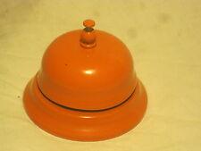 vintage metal desk lobby bell ring ding dinger hotel store orange ringer notice