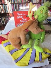 Grinch & Max PLUSH Pair book ,singing stocking - How The Grinch Stole Christmas
