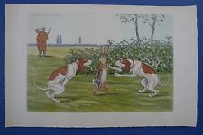 Vintage Boris O'Klein Hand Colored Etching Pencil Signed Ducher & Co. Nr. 528
