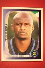 PANINI CHAMPIONS LEAGUE 2007/08 N. 174 VIEIRA INTER WITH BLACK BACK MINT!!