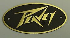 Peavey Brass Logo w/Brown Background (Brass Lighting Bolt Style) Amps & Cabs NEW