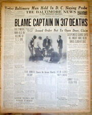 1930 headline newspaper OHIO STATE PRISON FIRE w Worst death toll in US history