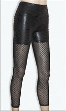 2in1 Zebra Pattern Shorts / Glitter Diamond Pattern Tights Black Stretch 6-10 UK