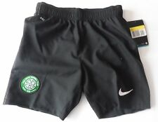 CELTIC 2012/13 BLACK AWAY SHORTS  BY NIKE SIZE SMALL BOYS BRAND NEW WITH TAGS