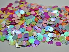 2000 Mixed Color Flat Round loose sequins Paillette Top Hole 10mm sewing Wedding