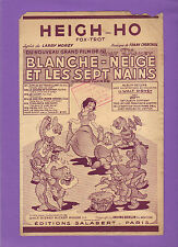 Partition  HEIGH HO BLANCHE NEIGE SEPT NAINS W. DISNEY FOX TROT MOREY CHURCHILL