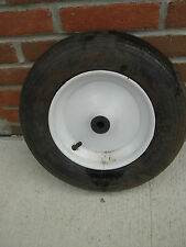 "Wheelbarrow Tire w/Rim 5/8 shaft 14 1/2"" Across or Garden Cart"