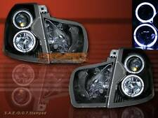 2003 04 05 06 07 CADILLAC CTS PROJECTOR HEADLIGHTS BLACK TWIN CCFL HALO